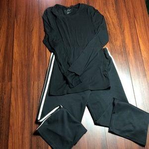Tops - Bundle of Black long sleeve &pants G1
